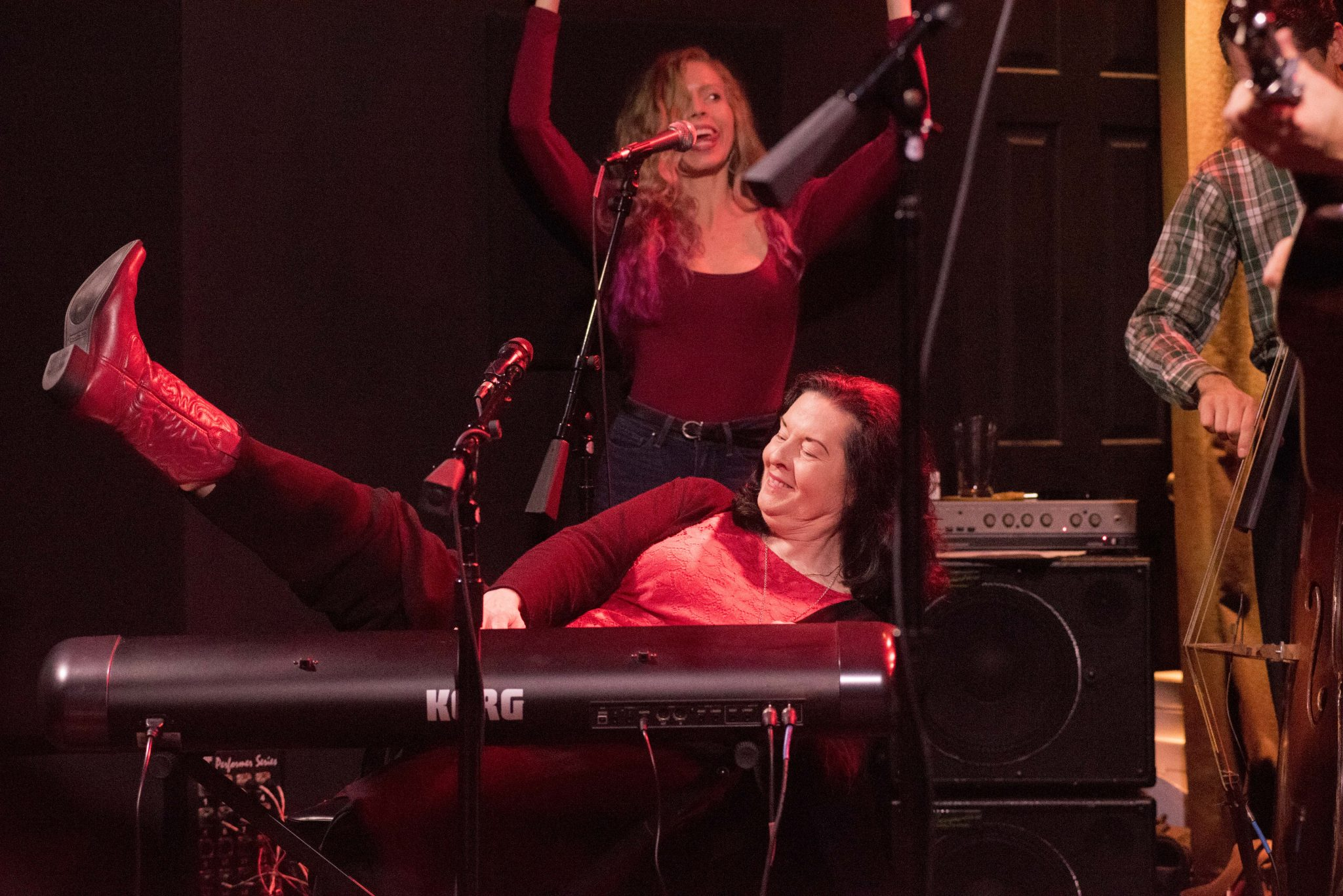 Linda Gail Lewis with Anne Marie-By Kevin Smith